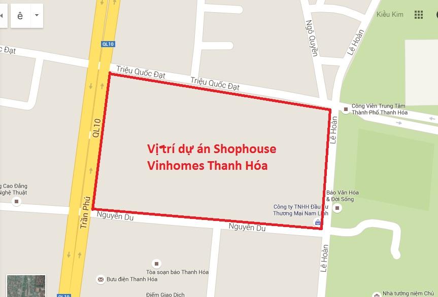 Vị trí khu Shophouse